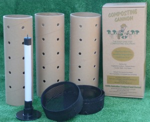 Composting Cannon full set - cannons, lids, tamper
